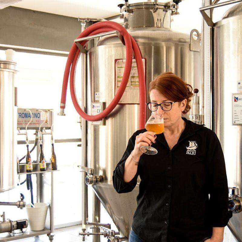 """Paola Sorrentino del Birrificio Bari: """"L'investimento sulla birra artigianale è prima di tutto emotivo""""."""