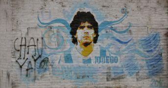 La pizza con il volto di Maradona by Errico Porzio