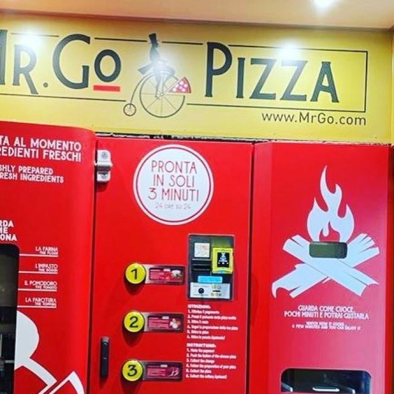 Ha aperto a Roma Mr.Go. La pizza automatica pronta in 3 minuti e 24 ore su 24