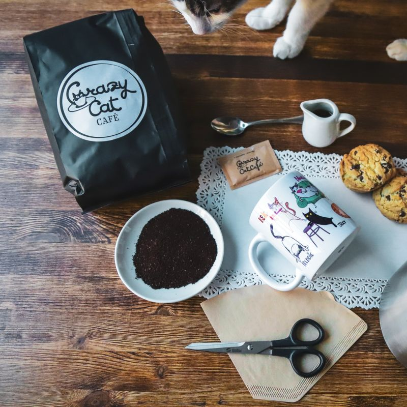Caffé filtrato in casa - Crazy Cat Café
