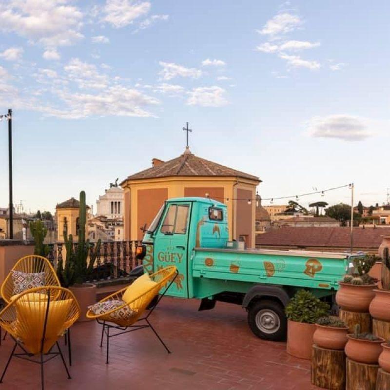 C'è un nuovo pop-up restaurant sulla terrazza di questo albergo vicino a Campo de' Fiori