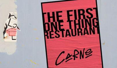 Non c'è nessuna opzione B: gli one thing restaurant nel Mondo