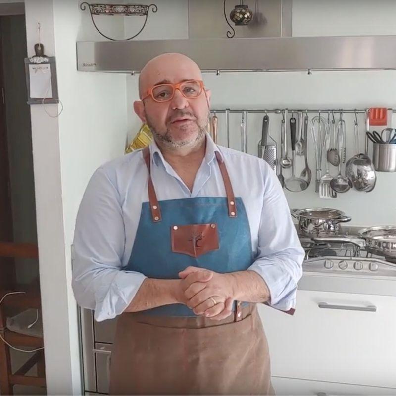 Mezze maniche con pesto di pistacchio e ricotta fresca di malga - La Casa di Marzapane