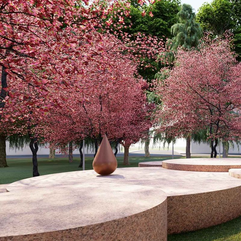 A Milano inaugura il giardino zen Teresa Pomodoro in piazza Piola
