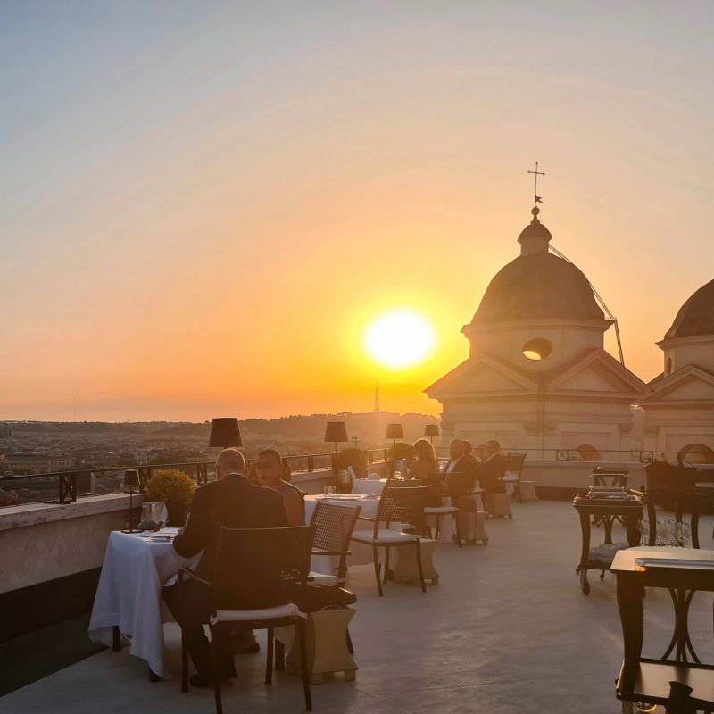 Imàgo a Roma inaugura il rooftop dell'Hotel Hassler, 1 Stella Michelin e vista mozzafiato