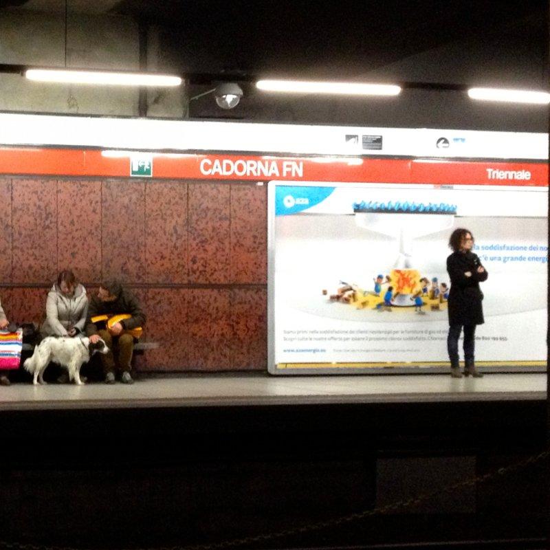 Stasera a cena in metro - edizione linea rossa. Traffico milanese non mi avrai