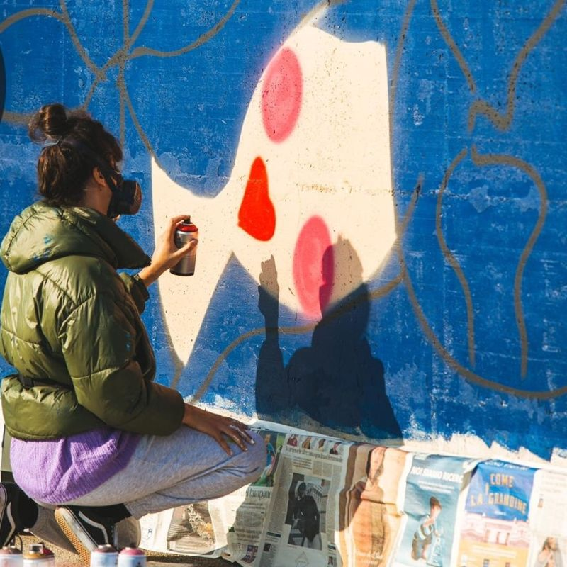 A Padova un nuovo grande murales dell'artista italo-argentina Carolì