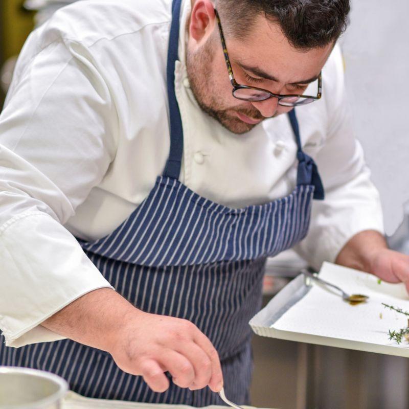 Carnaroli mantecato agli asparagi, limone e bottarga - Cosimo Russo Ristorante